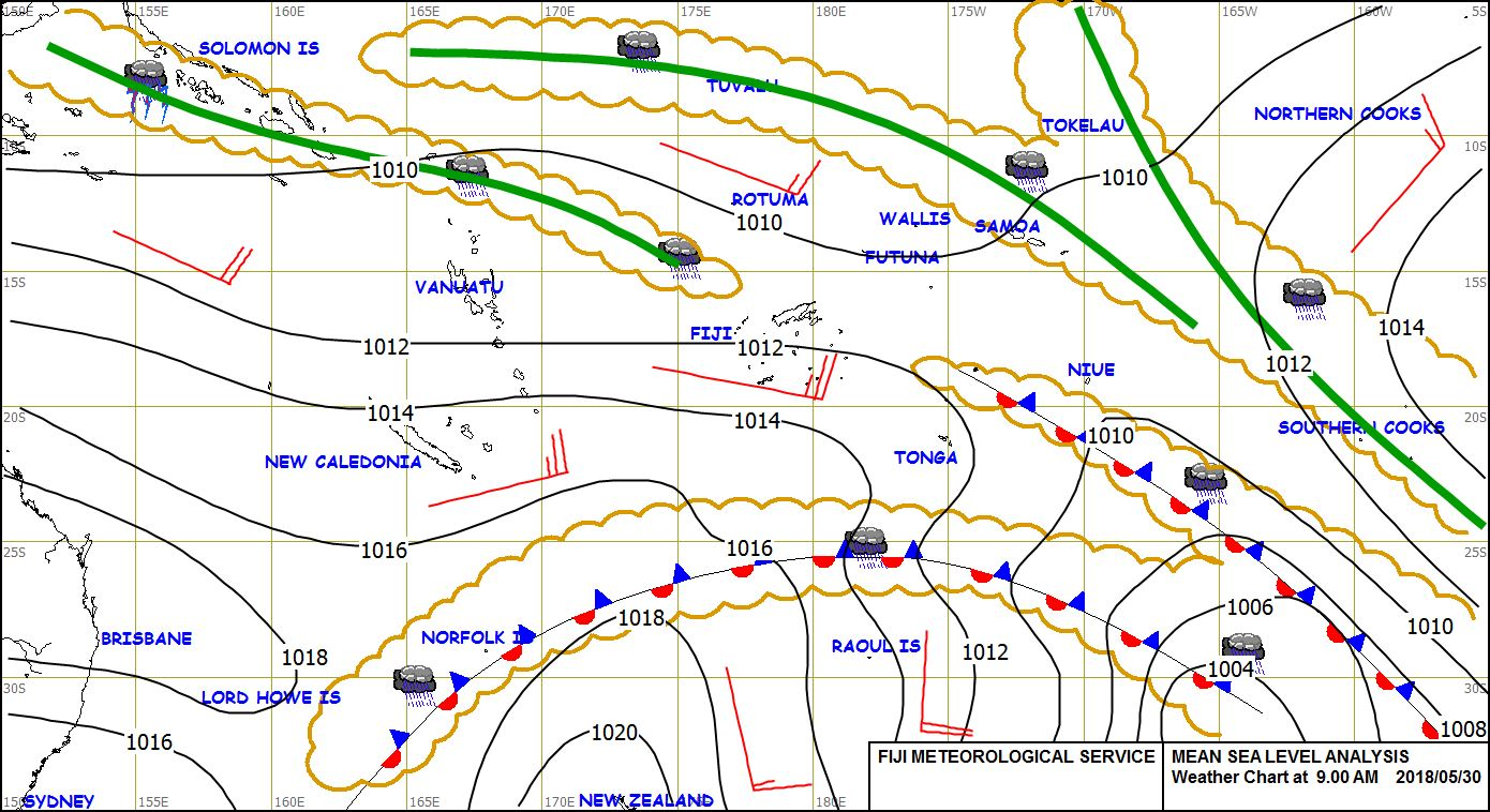 The Fiji Times » Weather watch: High pressure system directs