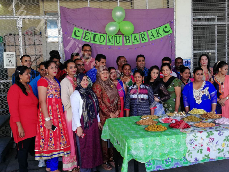 Management and staffs of Lale's ShopRite supermarket during the EID celebrations in Lautoka. Picture: SUPPLIED