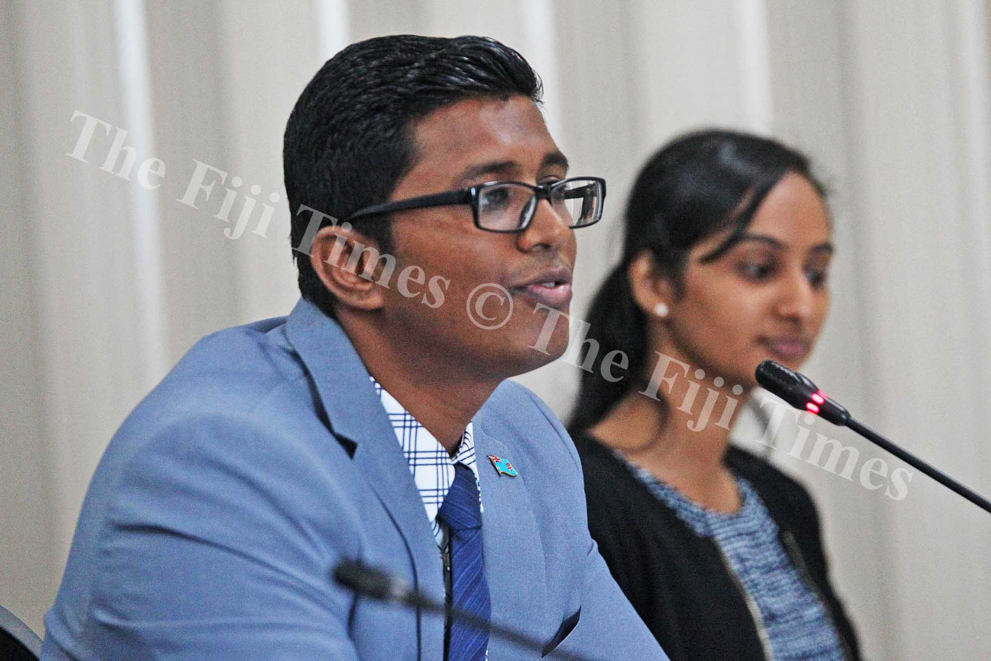 Fijian Competition and Consumer Commission. Commission chief executive officer Joel Abraham responds to the Standing Committee on Economic Affairs at Parliament yesterday. Picture: JONA KONATACI