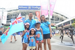 The Chand family during the third day of the HSBC World Sevens Series Sydney 7s tournament at the Allianz Stadium on Sunday, January 28, 2018. Picture-JONACANI LALAKOBAU