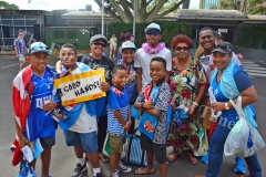 The Lewadromodromo family of Matata in Lami were also present to witness the first day of the HSBC World Sevens Series Sydney 7s tournament at the Allianz Stadium in Sydney, Australia on Friday, January 26, 2018. Picture: JONACANI LALAKOBAU