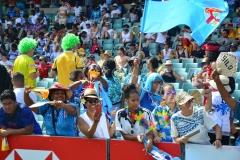 Fiji fans during the HSBC World Sevens Series Sydney 7s tournament at the Allianz Stadium on Saturday, January 27, 2018. Picture JONACANI LALAKOBAU 1