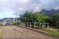 The dusty gravel road at St John's College on Ovalau which will be tarsealed by FRA. Picture SERAFINA SILAITOGA