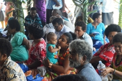 People of Navakawau in the South of Taveuni during a talanoa session with PM Voreqe Bainimarama at the Navakawau village last week. Picture LUKE RAWALAI