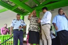 Prime Minister Voreqe Bainimarama discusses an issue with AG Aiyaz Sayed-Khaiyum at Naulumatua House in Nabouwalu on Monday last week. Picture LUKE RAWALAI