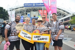 The Tovehi family during the third day of the HSBC World Sevens Series Sydney 7s tournament at the Allianz Stadium on Sunday, January 28, 2018. Picture-JONACANI LALAKOBAU
