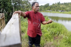 DR Brother Jim Madavana the Director for Montfort Boys Town stands beside one of the fish pond at Veisari outside Lami. Picture ATU RASEA