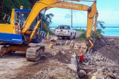 Road works by FRA on Ovalau has not been affected despite absence of licensed gravel source. Picture: SERAFINA SILAITOGA