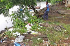 Rubbish found lying carelessly near the Labasa food parcel market. Picture: LUISA QIOLEVU