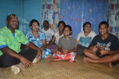 Manasa Bukasasa and his family at their residence in Vione Taveuni where they lived with a stranger who  claimed to be Lucifer. Picture LUKE RAWALAI