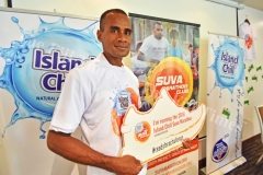 Athlete Petero Manoa during the Suva Marathon launch at Holiday Inn yesterday. Picture: RAMA