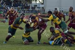 Mikaele Saurara on attack for Lautoka against Tailevu during their clash at Churchill Park in Lautoka yesterday. Picture: BALJEET SINGH