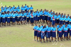 Gospel High School cadets in formation during their passing out parade yesterday. Picture: JOVESA NAISUA
