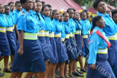 Cadets of Saint John house slow march during the Gospel High School passing out parade yesterday. Picture: JOVESA NAISUA