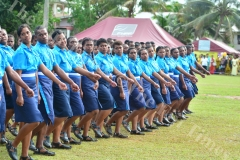 Cadets of Saint Mark house slow march during the Gospel High School passing out parade yesterday. Picture: JOVESA NAISUA