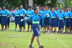 The best female cadet awardee Amisha Maharaj (Head Girl, 2IC) of St Mathew house on her way to receive her award during the passing out parade at Gospel High School yesterday. Picture: JOVESA NAISUA
