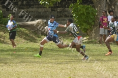 Ratu Navula fullback Vilime Temo attacks Sigatoka Valley in the Fiji Secondary Schools Rugby West Zone under 19 semi-finals at Prince Charles Park in Nadi this afternoon.Pic.BALJEET SINGH