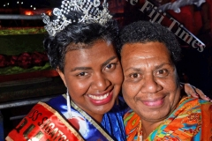 Miss Coral Coast Carnival winer Miss Jubaniwai Sudesh Transport Cema Bolawaqatabu with her mother Vasiti Bolawaqatabu. Pix: BALJEET SINGH