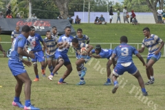 Natabua High School Jone Leko attacks against Cuvu College in the  Fiji Secondary Schools Rugby West Zone under 17 semi-finals at Prince Charles Park in Nadi this afternoon.Pic.BALJEET SINGH