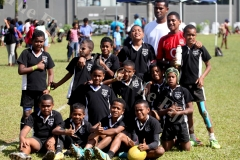 Nausori Primary School u12 at St Jospeh the Worker Primary School grounds yesterday. Picture: JONA KONATACI