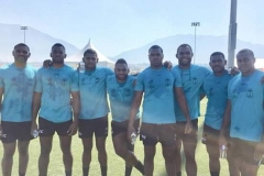 Fiji men's sevens side after one of their training run at UTA USA Picture SUPPLIED