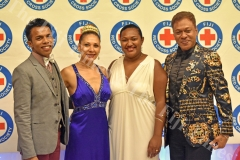 Former model Bridgette Middenway (2nd from left) with other guests during the Red Cross Ball at GPH on Saturday night. Picture: RAMA