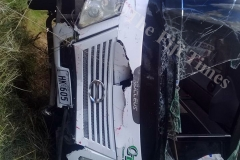 The bus which was involved in an accident at Vaivai, Lautoka. Picture: SUPPLIED