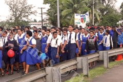The students from Lelean Memorial School march through Nausori during the school's Diamond Jubilee cebration at the school ground in Nausori on Saturday. Picture: SUPPLIED.